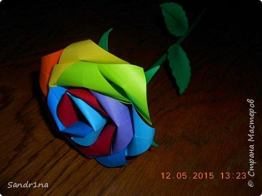 Розы оригами фото 14
