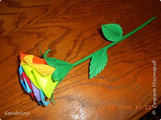 Розы оригами фото 13