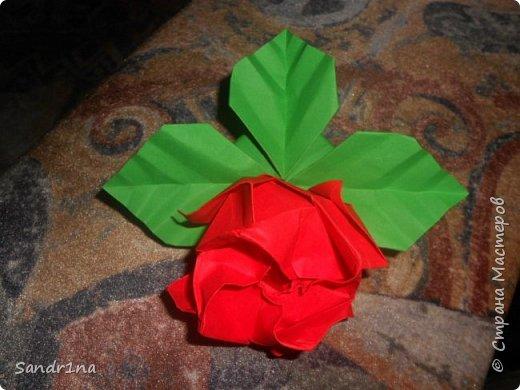 Розы оригами фото 10