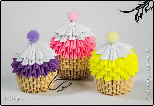 3d origami cupcake фото 1