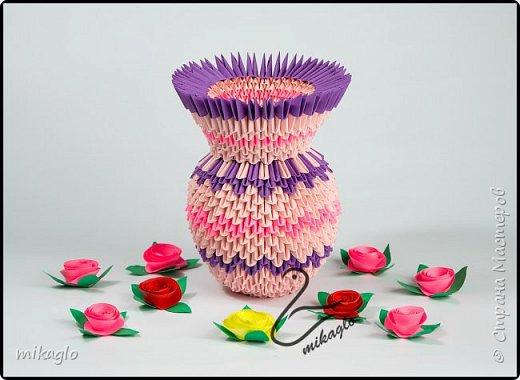 3d origami flower vase фото 1