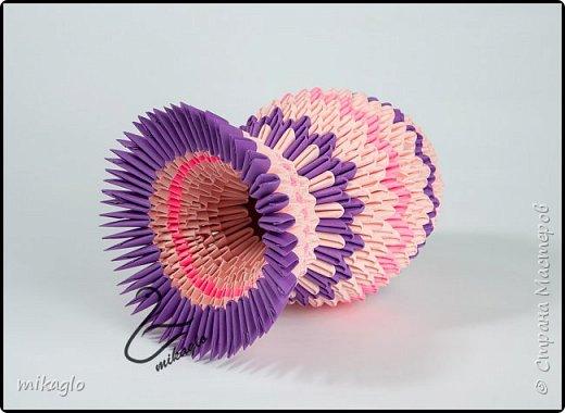 3d origami flower vase фото 4