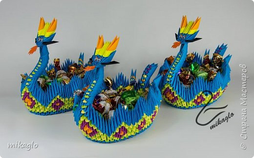 origami dragon boat  фото 1