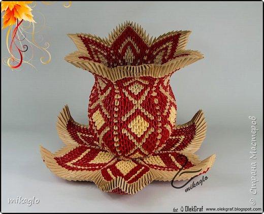 3d origami vase mikaglo фото 1