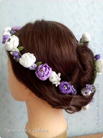 Первый раз делала проволоку с цветами для вплетения в волосы. Длина 1 метр фото 3