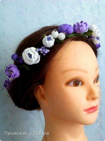 Первый раз делала проволоку с цветами для вплетения в волосы. Длина 1 метр фото 2