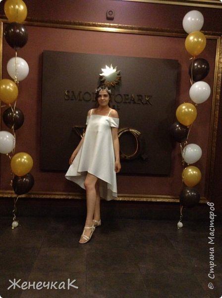 Вот прошел и наш выпускной)))) это платье легкое и необычно простое сшила нам крестная!  фото 1