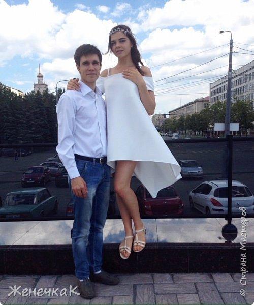 Вот прошел и наш выпускной)))) это платье легкое и необычно простое сшила нам крестная!  фото 2