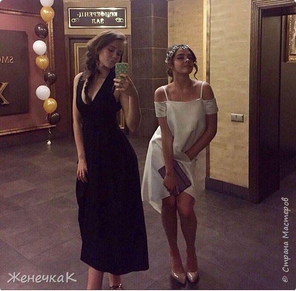 Вот прошел и наш выпускной)))) это платье легкое и необычно простое сшила нам крестная!  фото 3