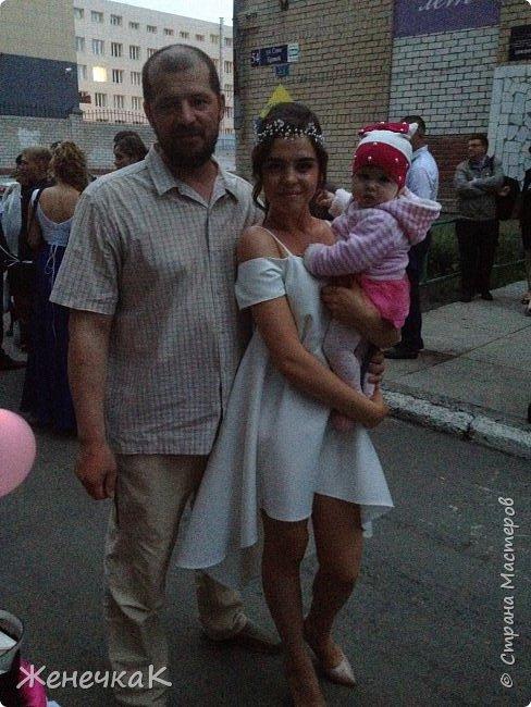 Вот прошел и наш выпускной)))) это платье легкое и необычно простое сшила нам крестная!  фото 5