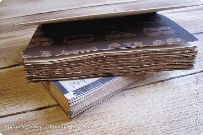 Всем огромный привет! Сегодня опять забежала показать вам второй свой блокнотик. оже делала по МК Олеси Бариновой. Все с нуля. Покажу немного фото процесса изготовления. фото 7