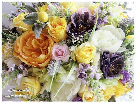 Доброго дня Всем,кто заглянул ко мне сегодня в гости!!! Представляю НОВИНКУ!!!  Интерьерная композиция создана в прованском стиле, и как-бы уносит нас  в прекрасные,душистые поля и сады Прованса...!!! Как-будто Вы гуляли по Провансу и принесли домой милый букет из цветов и трав... Всем,всем желаю приятного просмотра и бесконечных творческих идей!!! фото 2