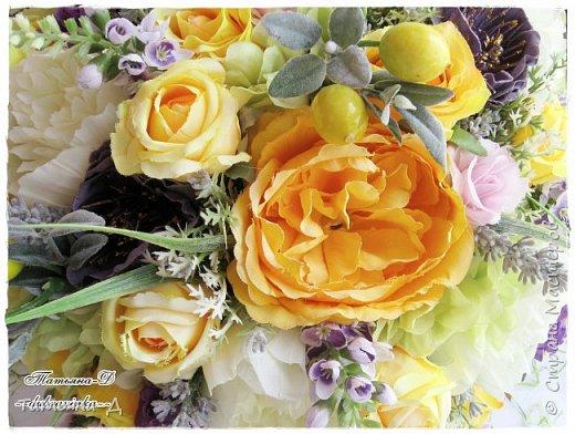 Доброго дня Всем,кто заглянул ко мне сегодня в гости!!! Представляю НОВИНКУ!!!  Интерьерная композиция создана в прованском стиле, и как-бы уносит нас  в прекрасные,душистые поля и сады Прованса...!!! Как-будто Вы гуляли по Провансу и принесли домой милый букет из цветов и трав... Всем,всем желаю приятного просмотра и бесконечных творческих идей!!! фото 4