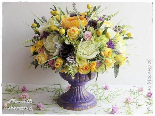 Доброго дня Всем,кто заглянул ко мне сегодня в гости!!! Представляю НОВИНКУ!!!  Интерьерная композиция создана в прованском стиле, и как-бы уносит нас  в прекрасные,душистые поля и сады Прованса...!!! Как-будто Вы гуляли по Провансу и принесли домой милый букет из цветов и трав... Всем,всем желаю приятного просмотра и бесконечных творческих идей!!! фото 3