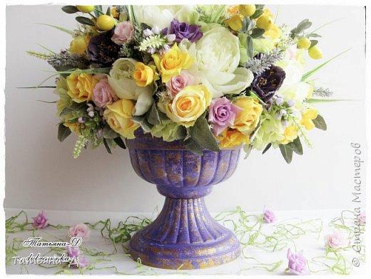Доброго дня Всем,кто заглянул ко мне сегодня в гости!!! Представляю НОВИНКУ!!!  Интерьерная композиция создана в прованском стиле, и как-бы уносит нас  в прекрасные,душистые поля и сады Прованса...!!! Как-будто Вы гуляли по Провансу и принесли домой милый букет из цветов и трав... Всем,всем желаю приятного просмотра и бесконечных творческих идей!!! фото 5