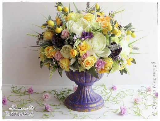 Доброго дня Всем,кто заглянул ко мне сегодня в гости!!! Представляю НОВИНКУ!!!  Интерьерная композиция создана в прованском стиле, и как-бы уносит нас  в прекрасные,душистые поля и сады Прованса...!!! Как-будто Вы гуляли по Провансу и принесли домой милый букет из цветов и трав... Всем,всем желаю приятного просмотра и бесконечных творческих идей!!! фото 8