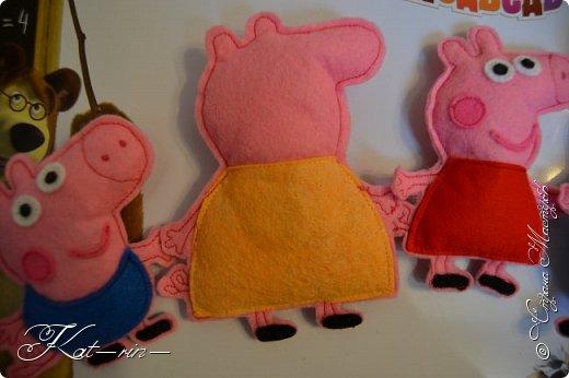 Свинка Пеппа и её семья на магнитах.  фото 6