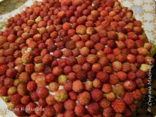 Поделюсь сегодня с вами своей идеей ягодного торта к лету ГЛАВНОЙ особенностью будет ягода сверху фото 19