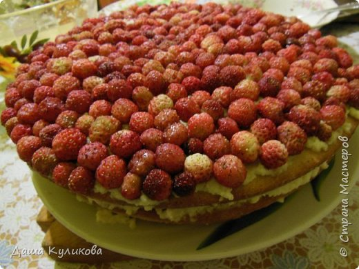 Поделюсь сегодня с вами своей идеей ягодного торта к лету ГЛАВНОЙ особенностью будет ягода сверху фото 20