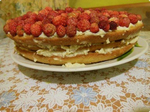 Поделюсь сегодня с вами своей идеей ягодного торта к лету ГЛАВНОЙ особенностью будет ягода сверху фото 18