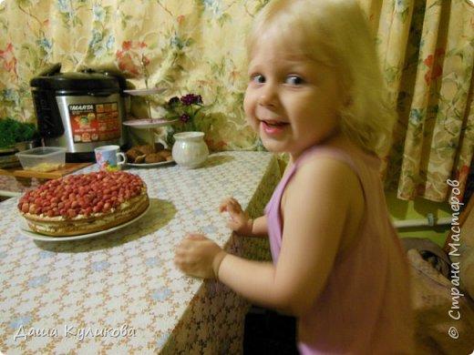 Поделюсь сегодня с вами своей идеей ягодного торта к лету ГЛАВНОЙ особенностью будет ягода сверху фото 24