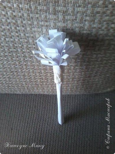 Вот такой цветочек из бумаги у меня получился))) фото 1