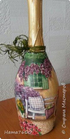 Мои бутылочки мечта - море и дом.....Делала себе к юбилею. фото 4