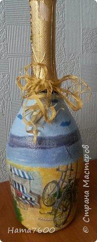 Мои бутылочки мечта - море и дом.....Делала себе к юбилею. фото 3