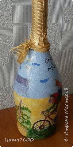 Мои бутылочки мечта - море и дом.....Делала себе к юбилею. фото 2