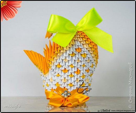 3d origami swan ombre фото 2