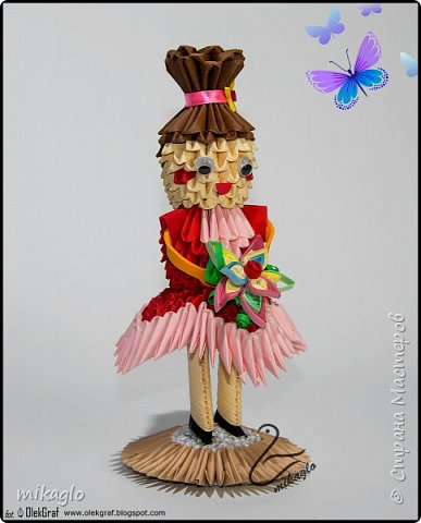 3d origami doll фото 1