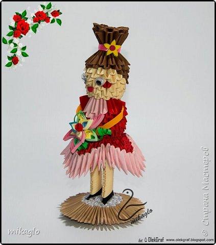 3d origami doll фото 2
