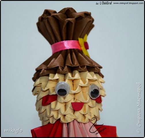 3d origami doll фото 3