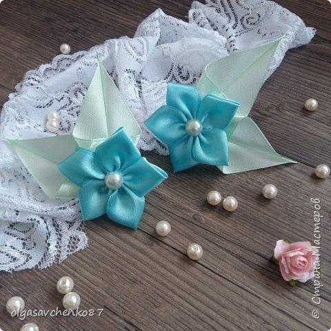Вот из таких простых лепестков канзаши, получаются милые цветочки для совсем маленьких крох. фото 4