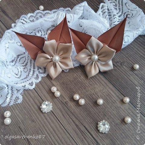 Вот из таких простых лепестков канзаши, получаются милые цветочки для совсем маленьких крох. фото 6