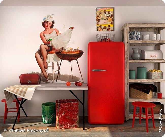 """Часы из книги """"Кухня в стиле пин-ап - 1"""" и фото в интерьере фото 4"""