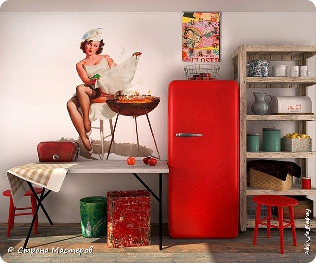 """Часы из книги """"Кухня в стиле пин-ап - 2"""" и фото в интерьере фото 4"""