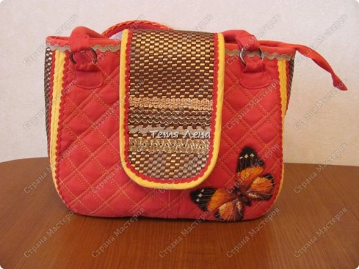 Вот такая необычная сумка получилась :))  фото 1