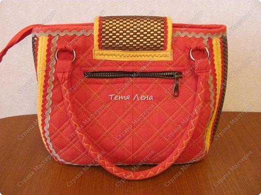 Вот такая необычная сумка получилась :))  фото 2