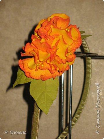 Всем доброй ночи! Наконец-то я дождалась МК этого цветка. Автор и Мастер Юлия Варламова. Целый день удовольствия и в итоге.... Ободок и две резиночки. А Теперь, прошу к просмотру и к обсуждению фото 8