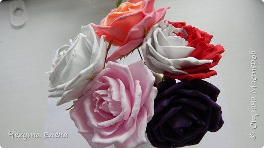 Пионовидные роза по МК Надежды Коноваловой. Спасибо ей огромное! Это резинка для волос.  фото 6