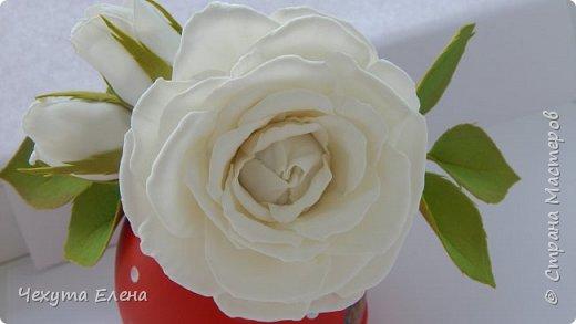 Пионовидные роза по МК Надежды Коноваловой. Спасибо ей огромное! Это резинка для волос.  фото 12