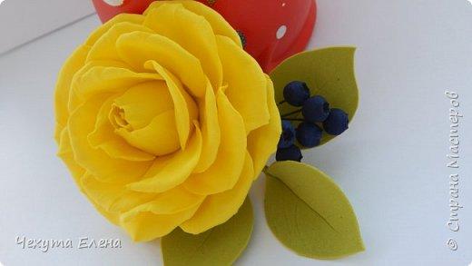 Пионовидные роза по МК Надежды Коноваловой. Спасибо ей огромное! Это резинка для волос.  фото 14