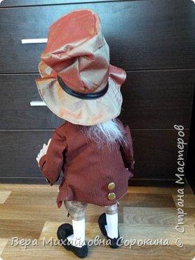 Кукла-гном!Выполнена в технике скульптурный текстиль. фото 4