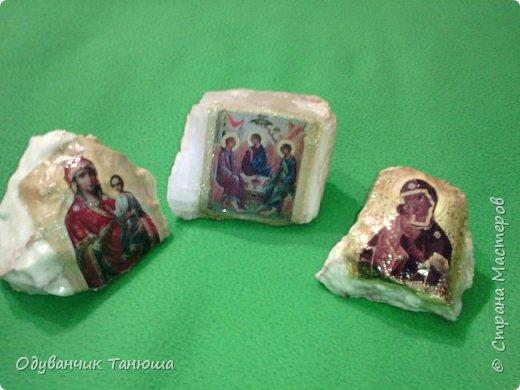 Декупаж на камне  фото 10