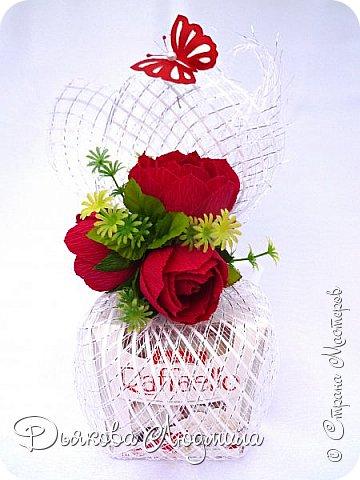 """Добрый вечер соседи! Несколько работ в красном. Работая с конфетами """"Рафаэлло,"""" считаю только бело-красную гамму допустимой, ну и немного зеленушки  в летних работах)))) фото 2"""