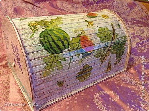 Вот такая прикольная фруктовая хлебница получилась.  фото 3