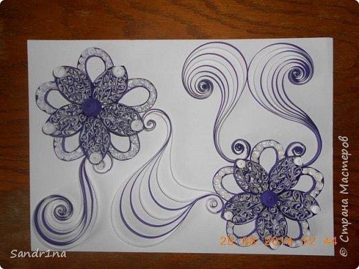Квиллинг композиция с цветами фото 2