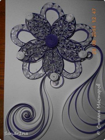Квиллинг композиция с цветами фото 6