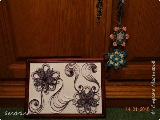 Квиллинг композиция с цветами фото 1